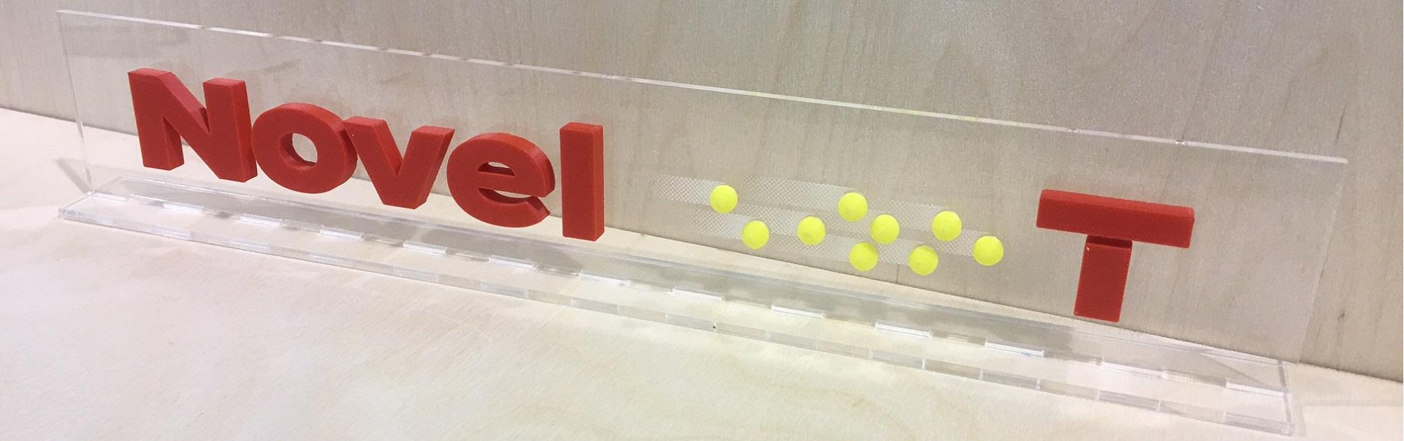 Logo Novel-T in 3D
