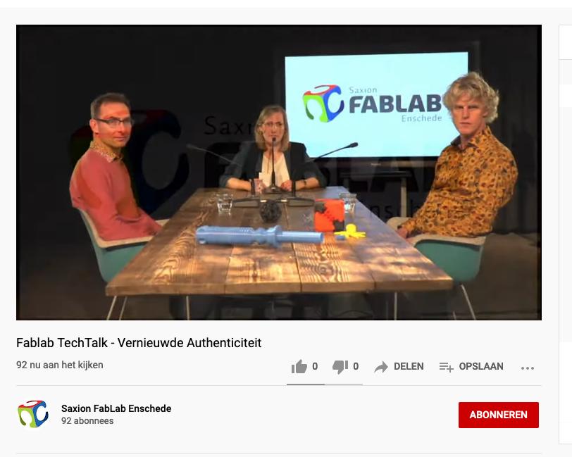 Eerste TechTalk met als thema 'vernieuwde authenticiteit', 8 april j.l. groot succes!