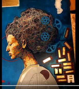 Turning 3D printer plastic waste into art